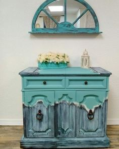 Rustic antique painted chest of drawers with IOD transfers Funky Painted Furniture, Refurbished Furniture, Paint Furniture, Handmade Furniture, Unique Furniture, Repurposed Furniture, Home Decor Furniture, Furniture Projects, Rustic Furniture
