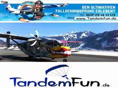 Zell am See Fallschirmspringen Tandemsprung 4000 Meter.