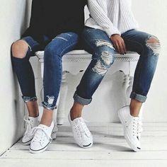 Imagen de fashion, girl, and jeans