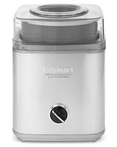I love the Cuisinart Stainless-Steel Ice Cream Maker on Williams-Sonoma.com