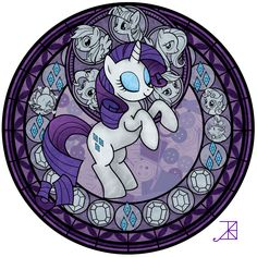 Stained Glass: Rarity -better- by Akili-Amethyst.deviantart.com on @deviantART
