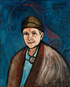 Francis Picabia's portrait of Gertrude Stein. MoMA, San Francisco.