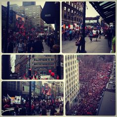 """#Montreal Tuition protest today over 300k student and no riots."""