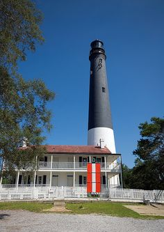 The beacon of the Pensacola Lighthouse is visible for 27 miles! The lighthouse is rumored to be haunted and has been featured on the program Ghost Hunters.