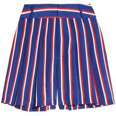 Scarlet Super Hw Flutter Short   Alice + Olivia ($265) ❤ liked on Polyvore featuring shorts, alice olivia shorts, frilly shorts, frill shorts, flounce shorts and ruffle shorts