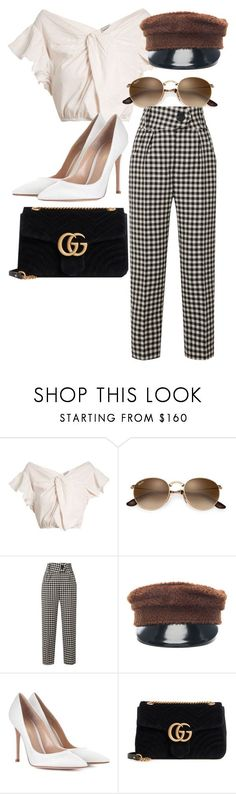 """""""Untitled #4960"""" by ashleymeagan ❤ liked on Polyvore featuring Rachel Comey, Petar Petrov, Ruslan Baginskiy, Gianvito Rossi and Gucci #womenworkoutfits"""