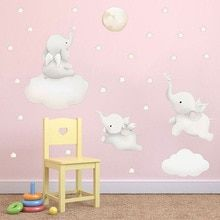 Buy Cute Cartoon Stars Cloud Wall Stickers Elephant Animal Sticker Baby Kids Room Decoration Nordic Style Nursery Vinyl Wall Decals at www.babyliscious.com! Free shipping to 185 countries. 21 days money back guarantee. Wall Stickers Elephant, Wall Stickers Murals, Vinyl Wall Decals, Playroom Decor, Nursery Decor, Kids Room Murals, Maps For Kids, Star Cloud, Nordic Style