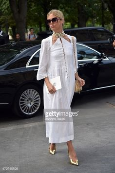 Laura Bailey at couture fashion week