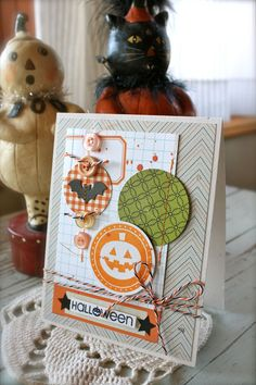 Halloween Card by Mish Mash Diy Halloween Decorations, Halloween Cards, Holidays Halloween, Halloween Themes, Happy Halloween, Fall Cards, Holiday Cards, Christmas Cards, Fall Paper Crafts
