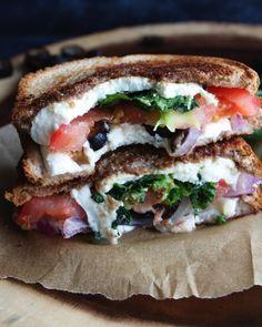 11. Mediterranean Grilled Cheese Sandwich #Greatist http://greatist.com/health/healthy-single-serving-meals