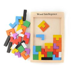 Wooden Puzzles Jigsaw Board Toys Tangram Brain Teaser Children Puzzle Toys Tetris Game Educational Kid Toys Gifts New Year Tangram Puzzles, Wooden Puzzles, Wooden Blocks, Wooden Jigsaw, Wooden Diy, Games For Kids, Activities For Kids, Preschool Games, Educational Toys For Kids