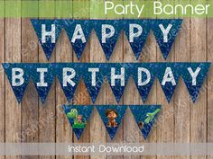 The Good Dinosaur Birthday Banner The Good Dinosaur Party Decor The Good Dinosaur Digital Banner INSTANT DOWNLOAD by KreativeDesignIdeas on Etsy Dinosaur Birthday Party, 4th Birthday Parties, 3rd Birthday, Birthday Ideas, Digital Banner, The Good Dinosaur, Party Items, Print And Cut, Card Stock