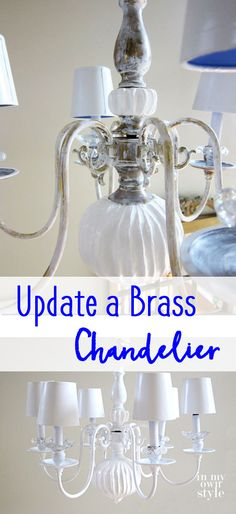 DIY Chandelier Makeover: Transform an old outdated chandelier with these simple and inexpensive tips.
