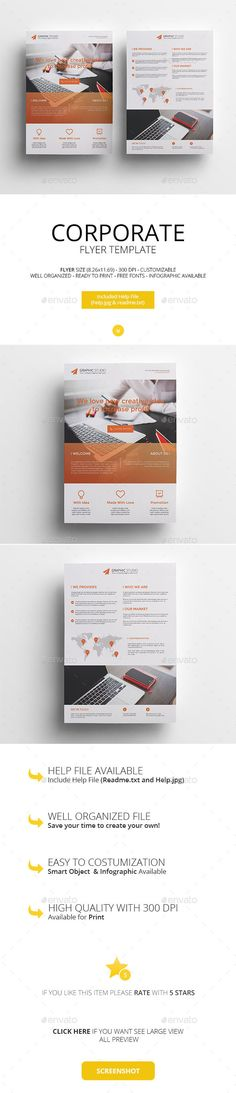 Corporate Flyers Templates PSD #promote Download: http://graphicriver.net/item/corporate-flyers/13240650?ref=ksioks