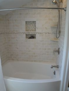 find this pin and more on for the home tiles in bathtub - Tile Bathroom Remodel