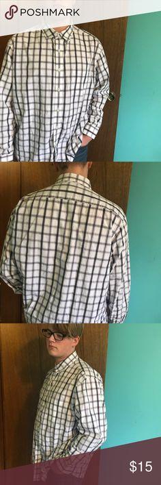 Men's dress shirt Size XL. Men's button down dress shirt. White, maroon, and gray striped. In great condition! croft & barrow Shirts Dress Shirts