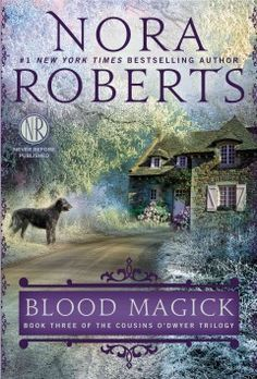 Blood magick by Nora Roberts.  Click the cover image to check out or request the romance kindle.