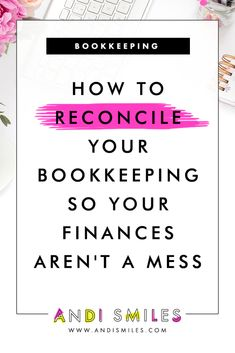 Want to have the neatest, most organized small business bookkeeping in the land? Reconcile your bookkeeping monthly! Click through to learn how to reconcile your bookkeeping and watch a step-by-step demo in QuickBooks Online with troubleshooting tips. Small Business Bookkeeping, Bookkeeping And Accounting, Small Business Accounting, Business Tips, Online Business, Accounting Basics, Quickbooks Business, Bookkeeping Training, Bookkeeping Course