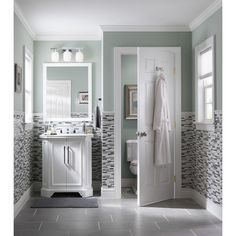Shop Style Selections Vanover 30-in W x 36-in H White Rectangular Bathroom Mirror at Lowes.com