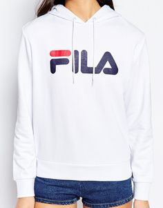 Image 3 of Fila Oversized Pull Over Hoodie With Large Logo