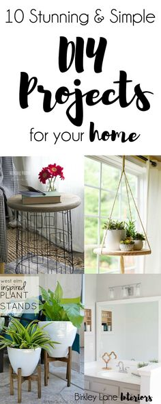 Are you looking for easy ways to give your house an update? Click here to see ten stunning and simple DIY projects that you'll love for your home! DIY Home Decor, DIY Crafts, DIY room decor, DIY projects, DIY projects for the home, DIY simple, DIY simple home decor, DIY easy, Easy DIY home decor