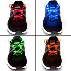 Cool Light-Up Waterproof Shoelaces - 3 Modes (On, Strobe & Flashing)