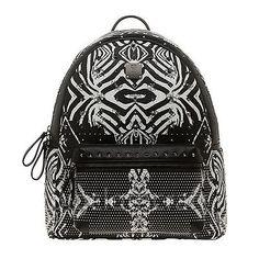 5e928c844b5f 2014 New Authentic MCM Funky Zebra Backpack Large Size Black White