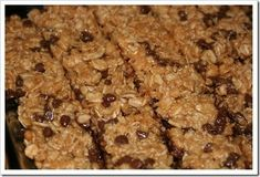 Homemade Chewy Granola Bars, Peanut Butter Chocolate Chip