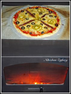 PIZZA DE ANCHOAS, ACEITUNAS Y EXTRA DE QUESO (Estufa de Leña)
