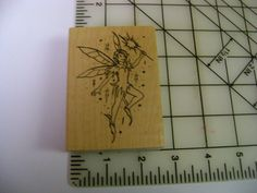 Embossing Arts Magical Tinkerbell Like Fairy with Wand Wood Mounted Rubber Stamp | eBay