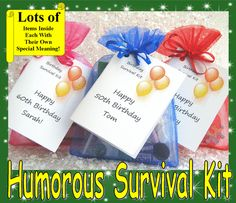 Details about BIRTHDAY NOVELTY SURVIVAL KIT GIFT PRESENT 50th60th