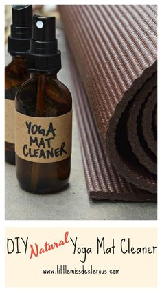 In minutes, you can make DIY Natural Yoga Mat Cleaner by mixing 3 ingredients that will sanitize and rejuvenate your mat. 100% synthetic-chemical free!