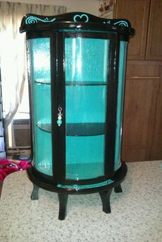 Antique Curio Cabinet I Repainted :)