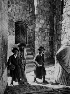 On their way to Synagogue, 1920s