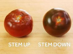 Want Juicier Tomatoes? Store Them Upside Down | Serious Eats