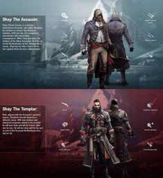 Shay Patrick Cormac,Templar and Assassin Assassins Creed Rogue, Skyrim, Dragon Age, Assassin's Creed Videos, All Assassin's Creed, Assasing Creed, Connor Kenway, Samurai, Geek Culture