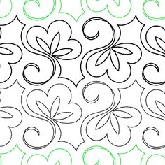 "Lorien's Sweet Pea - Paper - 7"" - Quilts Complete - Continuous Line Quilting Patterns"