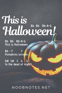 Piano Instruction This Is Halloween – The Nightmare Before Christmas letter notes for beginners - music notes for newbies - music-notes-this-is-halloween-the-nightmare-before-christmas was last modified: October 2018 by nat Piano Songs For Beginners, Beginner Piano Music, Easy Piano Sheet Music, Piano Sheet Music Letters, Clarinet Sheet Music, Music Chords, Saxophone Music, Violin, Trumpet Music