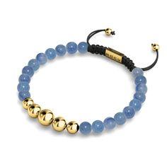 Macrame Bracelet Diy, Diy Beaded Bracelets, Gemstone Bracelets, Beaded Jewelry, Gemstone Beads, Blue Bracelets, Stretch Bracelets, Bangles, Letter Bead Bracelets