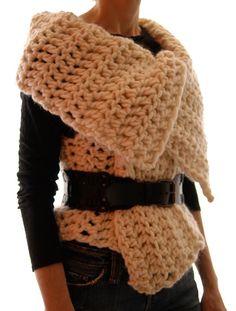 Knit 1 LA: Magnum Reversible Vest/Wrap (crochet)