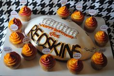 #Redskins football cake and cupcakes.