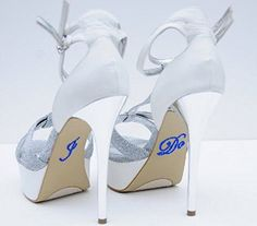 Unik Occasions Crystal Rhinestone I Do Wedding Shoe Stickers, Dark Blue