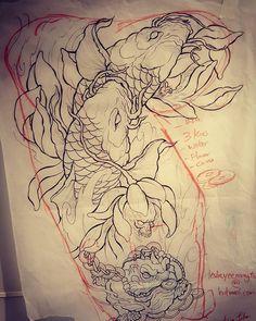 Drawing day #koi #koitattoo #koisketch #moneyfrog #fengshui #drawing #sketching #asianart #asiantattoos #japanesetattoos #lotus #lotustattoo #vancouvertattoos #monkeykingtattoos #carsonyip