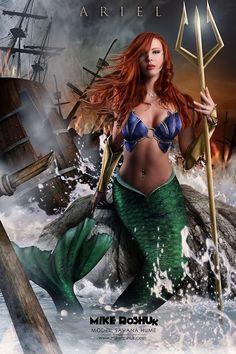 Ariel, | Disney Princesses Get A Fierce Warrior Makeover