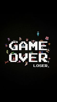 GAME OVER iPhone5壁紙 Check http://www.wallpaper-box.com/smartphone/game-over-iphone5%e5%a3%81%e7%b4%99/
