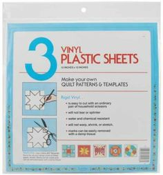 Use Quilter's Plastic Template in Silhouette to Cut out Stencils