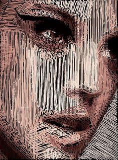 Studio Portrait In Pencil 57 Digital Art by Rafael Salazar