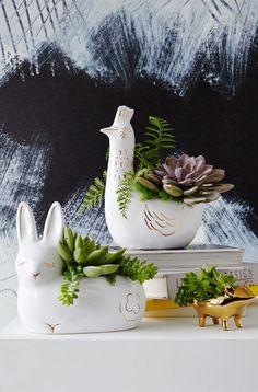 Adorable animal planters