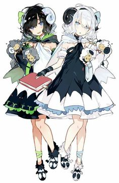 37 Ideas For Art Reference Fantasy Illustrations Anime Chibi, 5 Anime, Kawaii Anime Girl, Anime Art Girl, Anime Girls, Anime Style, Cute Characters, Anime Characters, Lolita Gothic