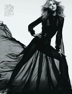 SASHA PIVOVAROVA  photographed by HEDI SLIMANE  VOGUE JAPAN  AUGUST 2011